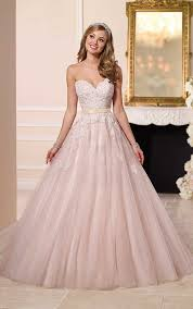 Blush Princess Style Ball Gown Wedding Dresses 2016 Stella York 6098