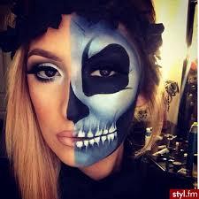 Halloween Half Mask Makeup by Instagram Post By Jamie Moreno Missj15 Halloween Makeup