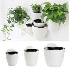 Plant Flower Vase Pot Self Watering Wall Hanging Plastic SML For
