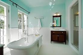traditional bathroom with freestanding bathtub subway tile