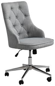 drehstuhl gepolstert in grau shoppen drehstuhl