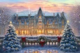 Christmas Tree Shops Paramus New Jersey by Christmas At Biltmore Limited Edition Art Thomas Kinkade