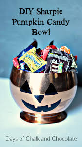 Halloween Candy Dishes by Diy Sharpie Pumpkin Candy Bowl Halloween Craft Days Of Chalk