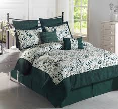 Sears Headboards Cal King by Stunning Black Metal Headboard With Dark Green Comforter Sets And