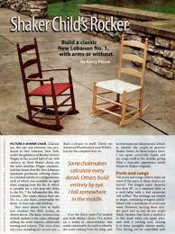 Childs Shaker Rocking Chair Plans • WoodArchivist Ding Room Chair Woodworking Plan From Wood Magazine Indoor How To Replace A Leather Seat In An Antique Everyday 43 Adirondack Glider Plans Folding 478 Classic Rocking Fniture Best Wooden Diy Wine Barrel Wood Very Simple Adirondack Chair Plans With Cooler Wooden Fniture Making 60 Boat Dashboard Stock Image Of Childs Solid Of Windsor Woodarchivist Mission Style History And Designs Homesfeed Stick Free Building Southern Revivals