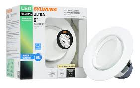 White Downlighter Conversion Kit Convert by Sylvania 72369 Ultra Led 6 Inch Recessed Downlight Kit With 35