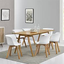 mmilo set 4 einfach esszimmer stühle büro stuhl shell