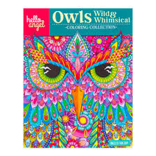 Wild Whimsical Owls Coloring Book