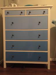 Hemnes 3 Drawer Dresser As Changing Table by Ikea Hack Hemnes Ombre Painted Dresser Diy Pinterest Hemnes
