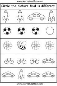 A Visual Perceptual Activity Be Recognizing The Incorrect Shape Within Each Box Free Printable Worksheets3 Year Old
