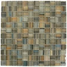 shop american olean 12 in x 12 in delfino galaxy glass mosaic