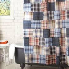 Checkered Flag Window Curtains by Portsmith Plaid Shower Curtain Navy Pbteen Checkered Gray