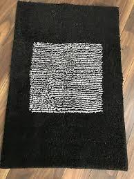 meusch badematte schwarz weiß 90x60cm impressionen hoher
