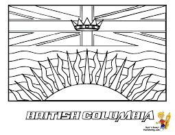 Striking Flag Printables Of Canada And British Columbia Coloring Page