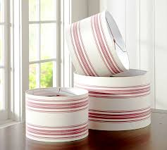 Pottery Barn Floor Lamp Shades by French Stripe Straight Sided Drum Lamp Shade Pottery Barn