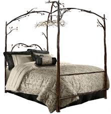 Twin Metal Canopy Bed Pewter With Curtains by Forest Canopy Bed Iron Queen Size Bed Frame