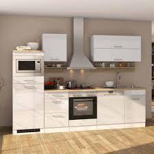 einbauküche mit mikrowelle geschirrspüler cuneo hochglanz weiß 13 teilig
