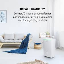 klarstein dryfy connect 40 luftentfeuchter dehumidifier kompressionsluftentfeuchter wifi schnittstelle entfeuchtungsleistung 40 l pro tag 360 m