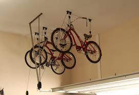 Racor Ceiling Mount Bike Lift by Ceiling Bike Rack For Garage How To Build Bike Rack For Garage
