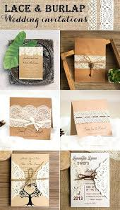 Wedding Invitations With Real Burlap Vintage Country Rustic Lace And