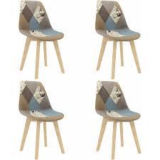 betterlife esszimmerstühle 4 stk patchwork design grau stoff