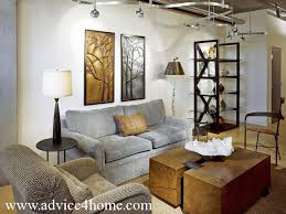 Gray Brown Sofa Set Design And White Wall In Living Room