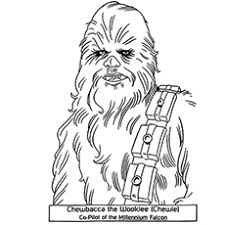 Character Chewbacca Star Wars Colouring Pages