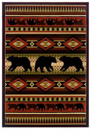 Contours Native Bear Terracotta Area Rug