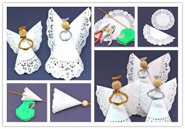 How To Make Easy Doily Angle Paper Crafts