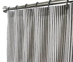 Kmart White Blackout Curtains by Striped Black White Shower Curtains With Steel Curtains Ring And