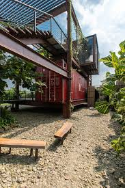 100 Recycled Container Housing River Rain Combines Recycled Shipping Containers Into