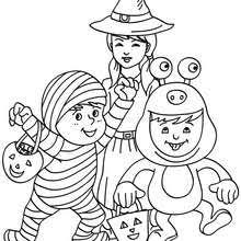 Halloween Costume Coloring Pages 11 KIDS COSTUMES