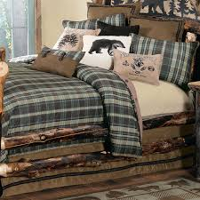 Rustic Bedroom With Bear Bedding From Comforters To Coverlets And