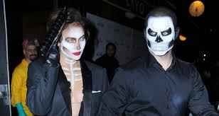 Heidi Klum Halloween 2013 by Jennifer Lopez U0026 Casper Smart Are Matching Skeletons At Heidi