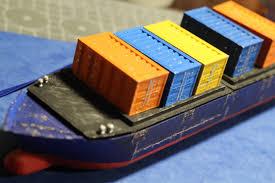 100 Shipping Container Model Cargo For Cargo Ship Marauda