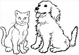 Full Image For Dog And Cat Coloring Pages Printable To Print