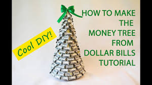 Money Tree Dollars Bills Craft Tutorial DIY Gift Decoration