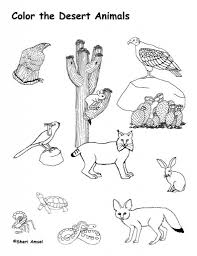 Desert Coloring Pages Getcoloringpages Regarding Animals