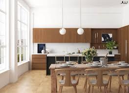 hochwertige interieur visualisierungen esszimmer küche