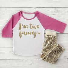 Pink And Gold Birthday Themes by 2nd Birthday Girls Birthday Shirt I U0027m Two Fancy Shirt Pink