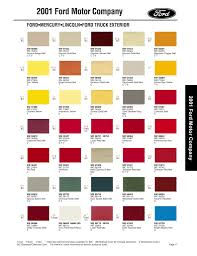 100 2001 Ford Truck Paint Chips