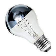 gls 60w e27 es 240v bell lighting crown silver light bulb 03020