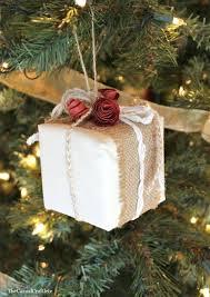 Diy Rustic Christmas Package Ornament Present