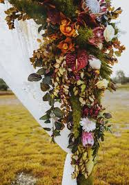 Floral Arbour Wedding Decorations Native Australian Blooms Bride