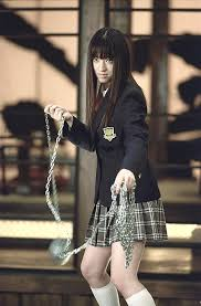 Chiaki Kuriyama As Gogo Yubari A Sadistic Who Is O Rens Personal Bodyguard With Chain Mace In Kill Bill Volume 1 2003 American Action Thriller Film