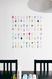 Colorful Kitchen Wall Art Using Spoons And A Little Bit Of Paint Cheap Easy
