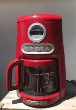 Kitchenaid Coffee Maker Red 12 Cup JavaStudio Programable Personal KCM511