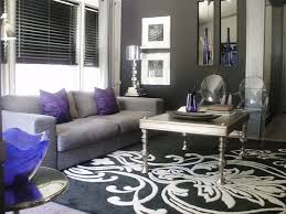 Black And Silver Living Room Purple Ideas