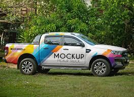 100 Free Truck Vehicle Branding Pickup Mockup PSD Good Mockups