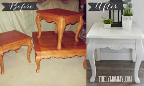 How To Build Wooden End Table by Make Diy Dark Or Coloured Wax My Upcycled Side Table The Diy